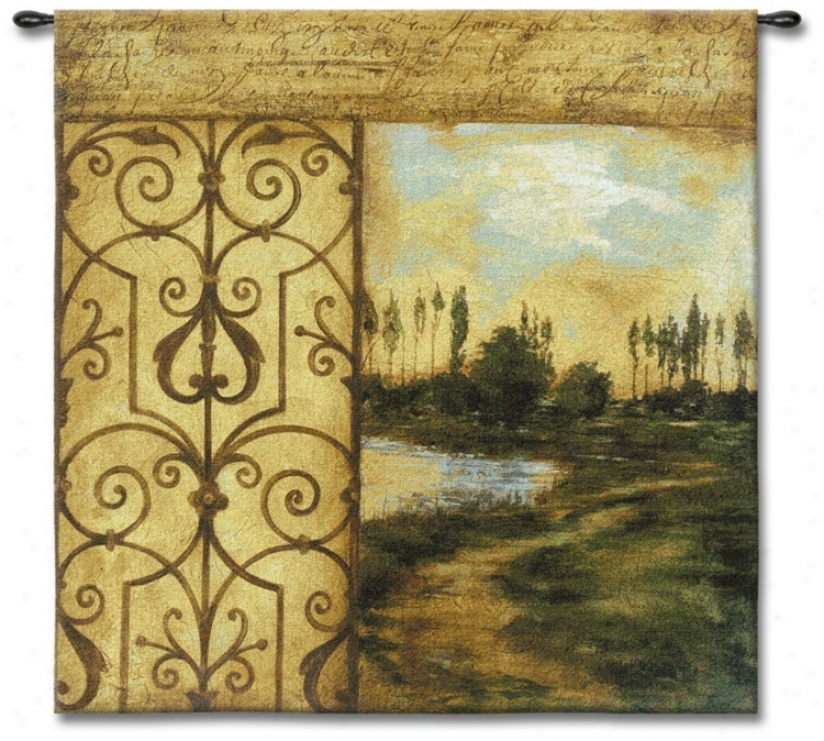 "Words In The Wind 53"" Square Wall Tapestry (j8675)"