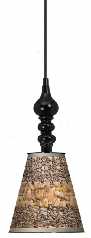 "Woven Fundamentals 7 1/2"" Remote Black Chandelier (k3337-n8739)"