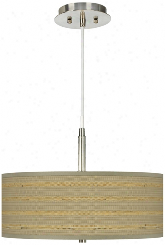 """Woven Reed Giclee 16"""" Wide Pendant Chandelier (g9447-v3122)"""