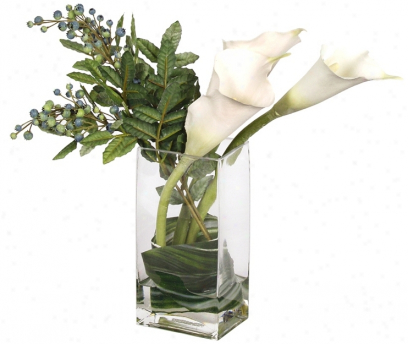 Wrapped Calla In Glass Vase (j7442)