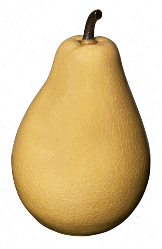 Yellow Ceramic Pear Decorative Object (26579)