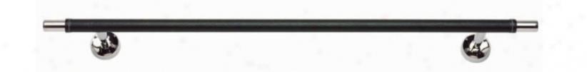 "Zanzibar Collec5ion 24"" Wide Chrome Black Towel Bar (21231)"