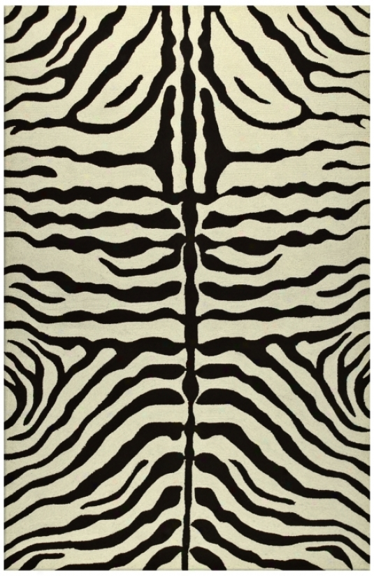 Zebra Stripe Brown Indoor Oufdoor 8'x 11' Rug (k0191)