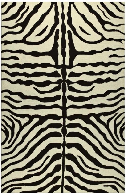 Zebra Stripe Brown Indoor Oufdoor 8'x 11' Rug (k0191)