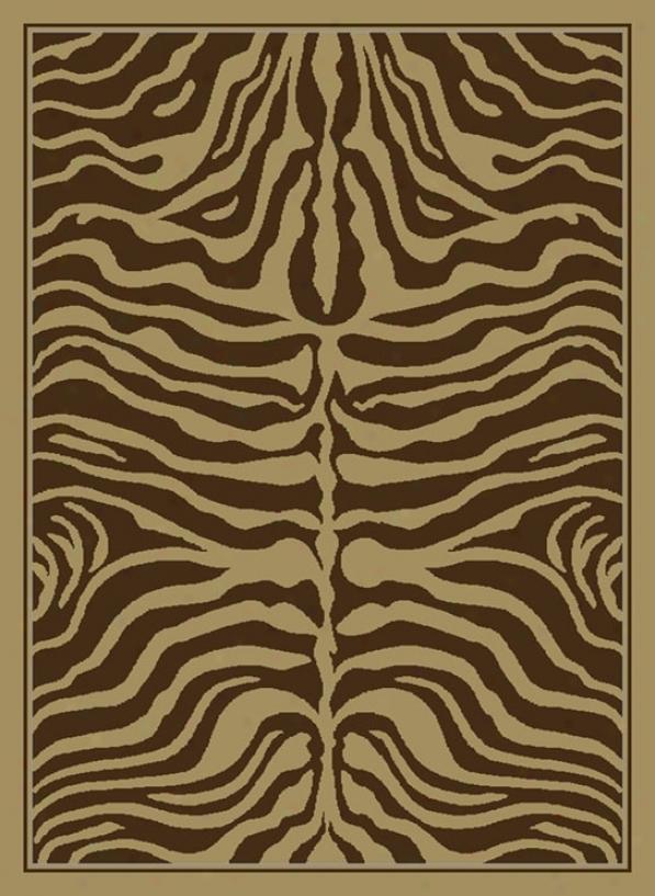Zebra Symmetry Brown Rug (j9707)