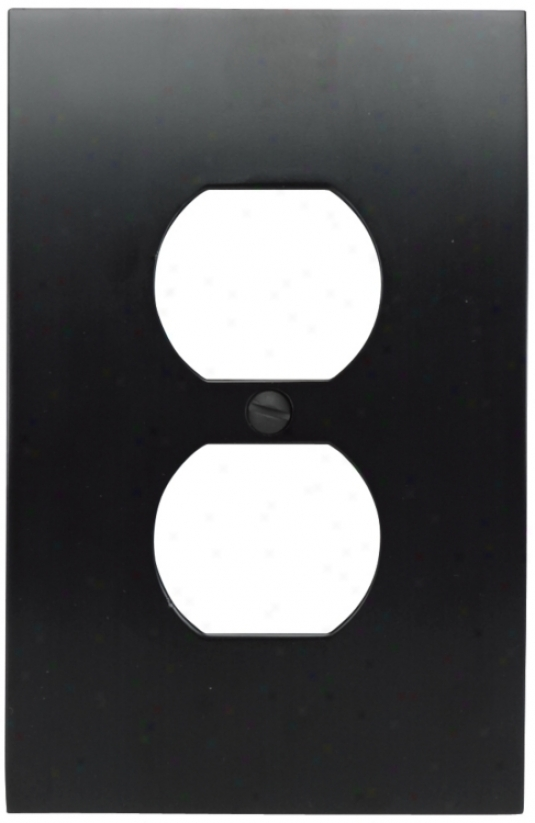 Zephyr Black Finish Convex Wall Plate (82294)