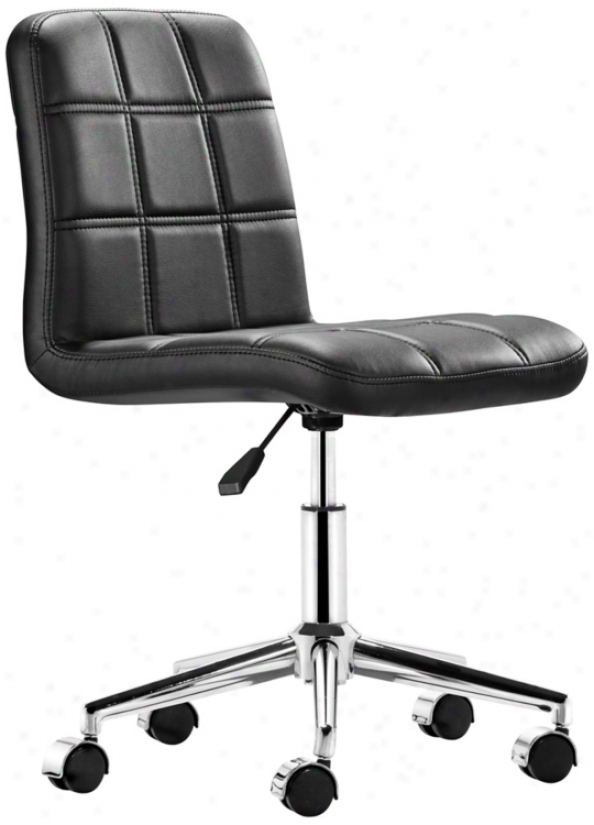 Zuo Agent Black Armless Office Chair (t2477)
