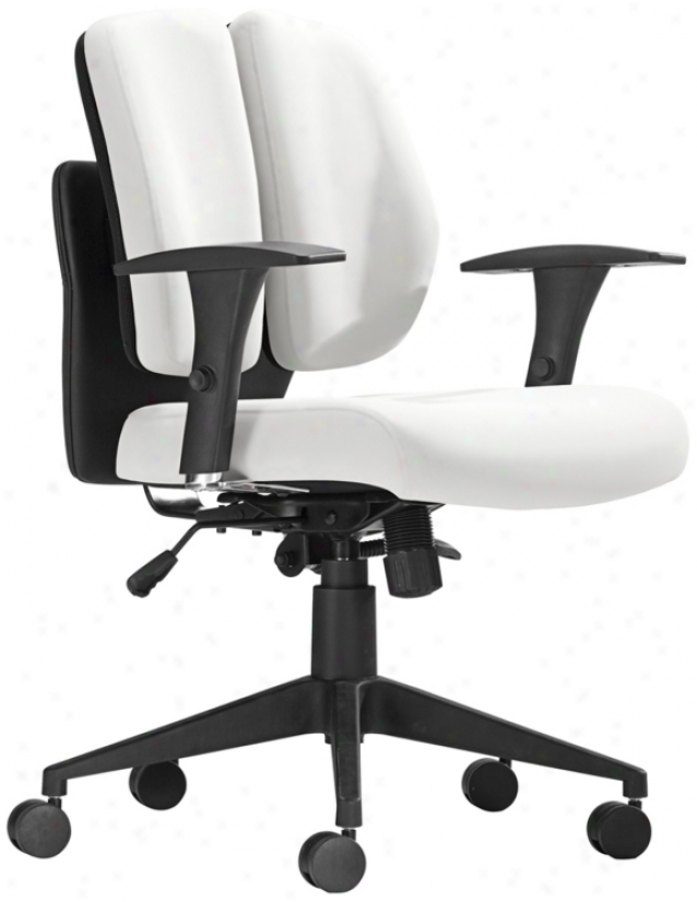 Zuo Aqua White Polyurethane Office Chair (t2474)