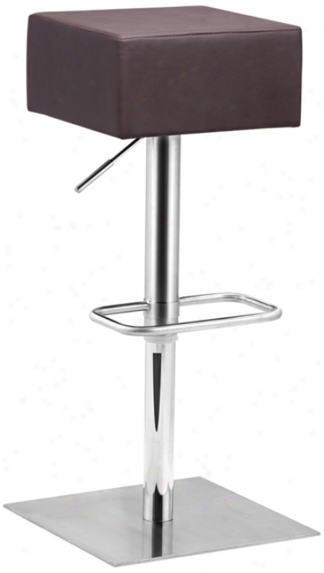 Zuo Butcher Espresso Adjustable Elevation Bar Or Counter Stool (t2536)