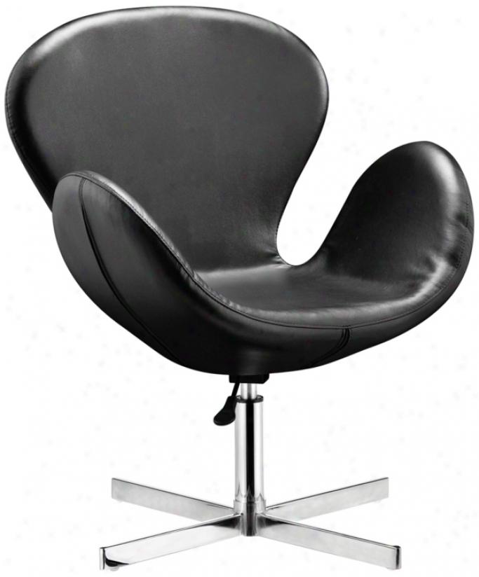 Zuo Cobble Black Swivel Chair (m7361)