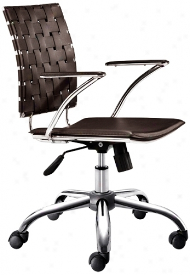 Zuo Criss Cross Espresso Leatherette Office Chair (g4060)