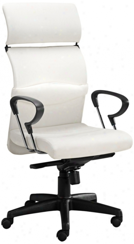 Zuo Eco White Leatherette Office Chair (g4068)