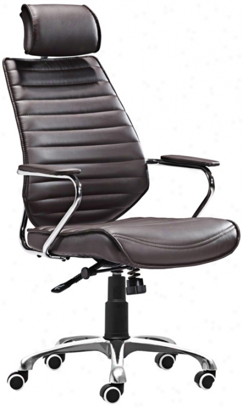 Zuo Enterprise Collection High Back Espresso Office Chair (v7453)