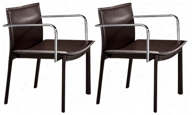 Zuo Gekko Black And Chrome Set Of 2 Conference Chairs (g4193)