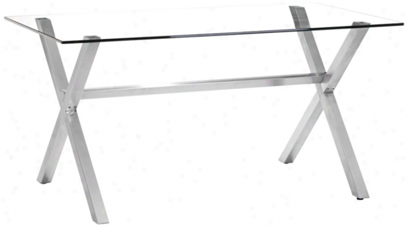 Zio Graphite Clear Glass Modern Dining Table (v9261)
