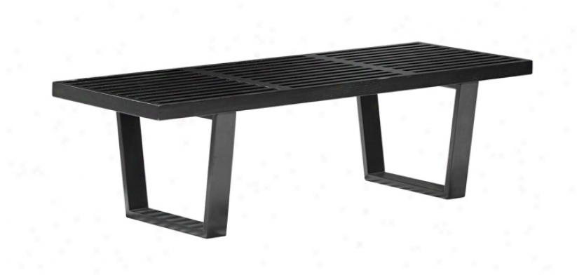 Zuo Heywood Double Black Bench (v7726)