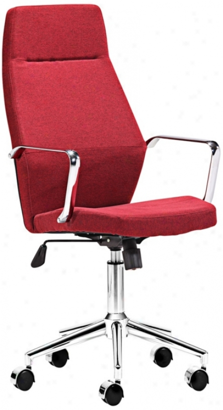 Zuo Holt Collection High Back Red Office Chair (v7437)