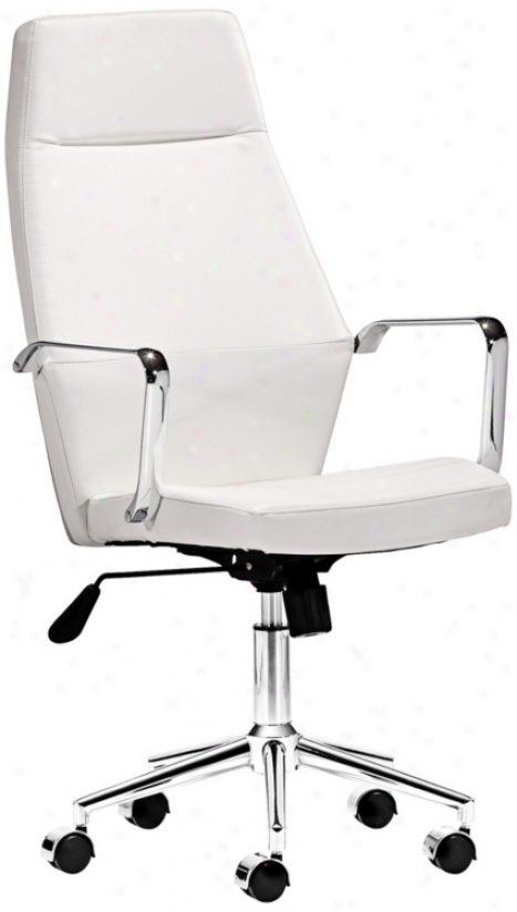 Zuo Holt Collection High Back White Office Chair (v7436)