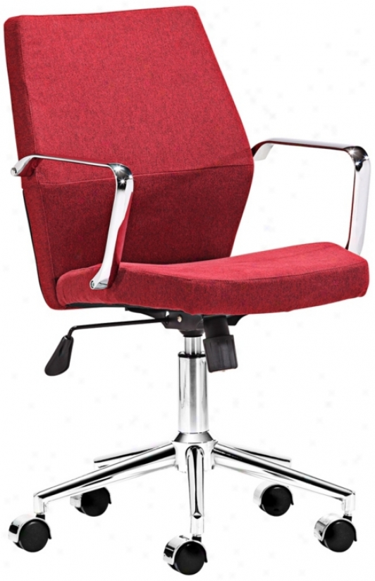 Zuo Holt Collection Low Move Red Office Chair (v7443)