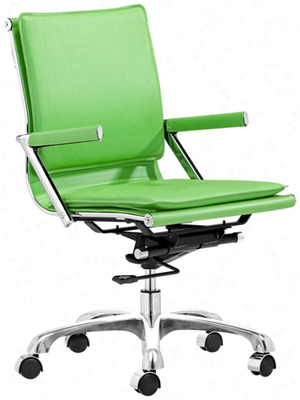 Zuo Lider Plus Green Office Chair (t2485)