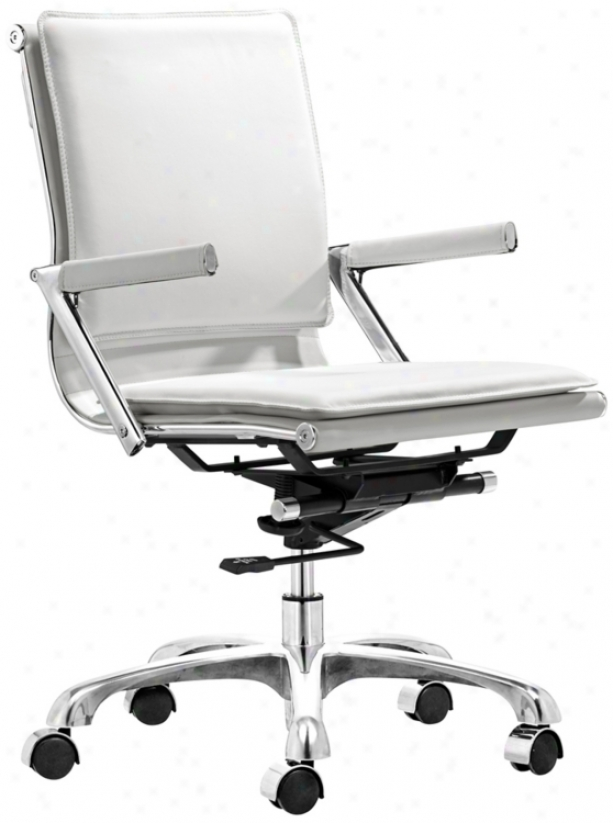 Zuo Lider Plus White Office Chair (t2486)