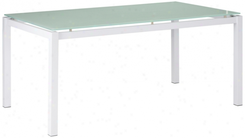 Zuo Liftoff White Dining Table (r8269)