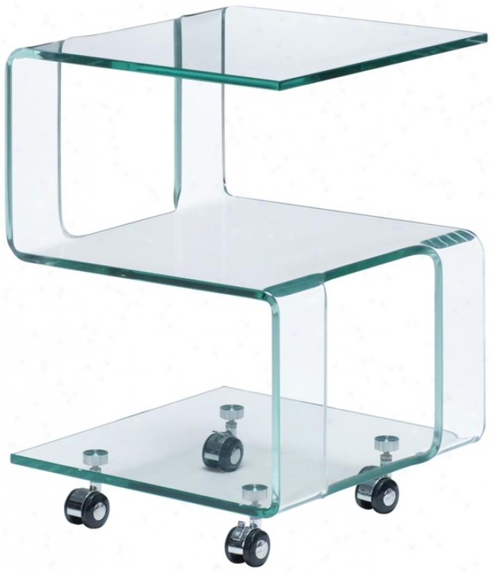 Zuo Magellan Clear Side Table (r8325)