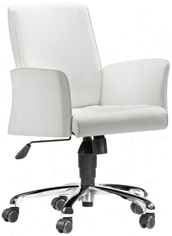 Zuo Metro White Office Chair (t2450)