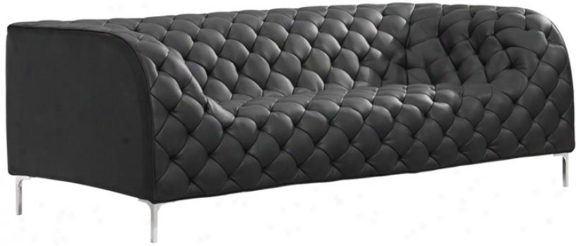 Zuo Modern Providence Black Tufted Sofa (v7756)