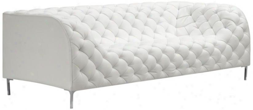 Zuo Modern Providence White Tufted Sofa (v7775)