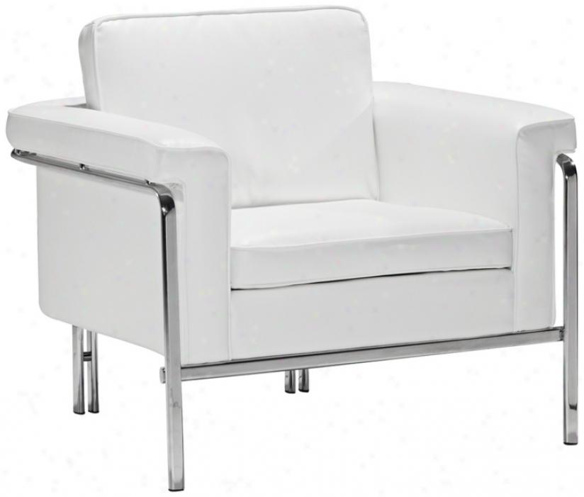 Zuo Modern Singular White Armchair (w2803)