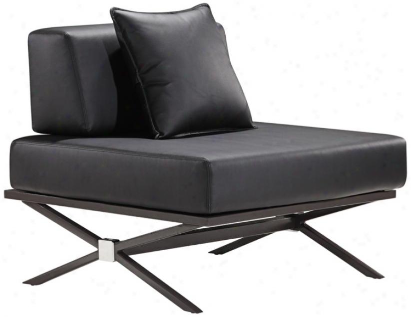 Zuo Modern Xert Modular Black Lounge Chair (v7541)