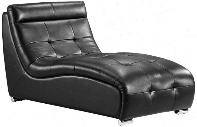 Zuo Object Black Modular Sofa Chaise (t2665)