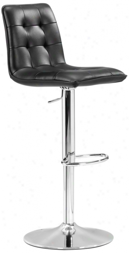 Zuo Oxygen Black Adjustable Bar Stool Or Counetr Stool (m7308)