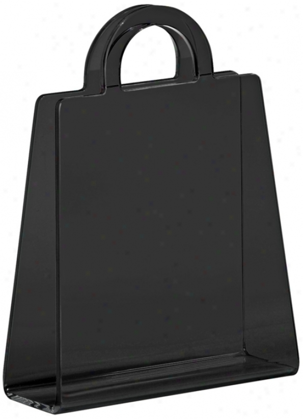 Zuo Purse Open Black Modern Magazine Rack (v9301)