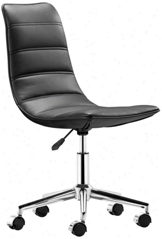 Zuo Ranger Black Armless Office Chair (t2469)