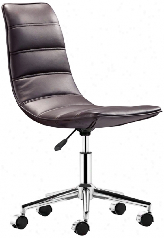 Zuo Ranger Brown Armless Office Chair (t2471)