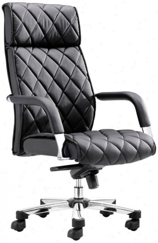 Zuo Kingly Black Office Chair (m7400)