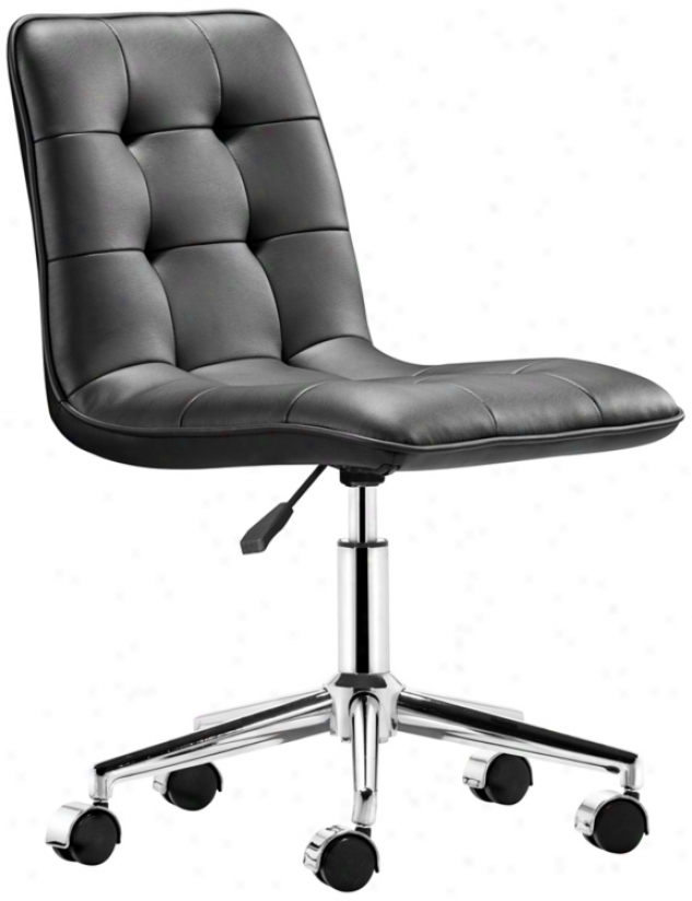 Zuo Scout Black Armless Office Chair (t2475)