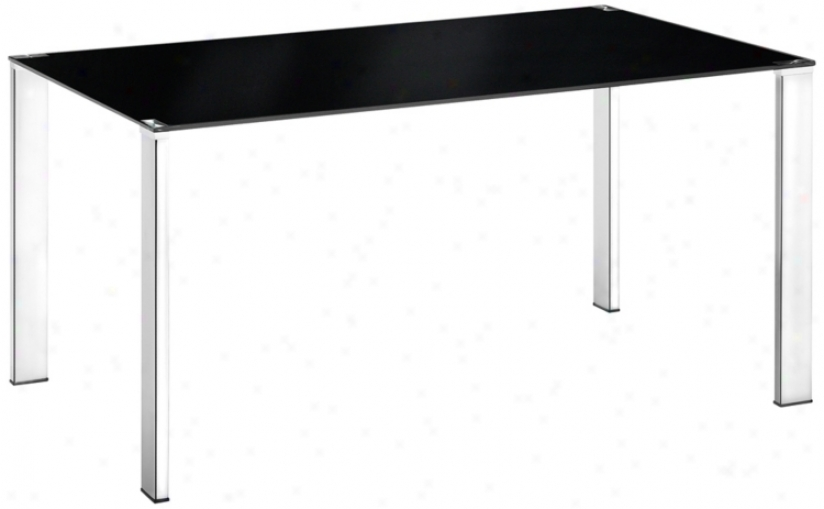 Zuo Slim Black Dining Table (r8273)