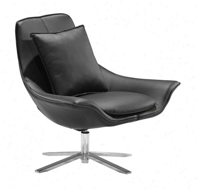Zuo Vital Black Leatherette Leisure Chair (v7737)
