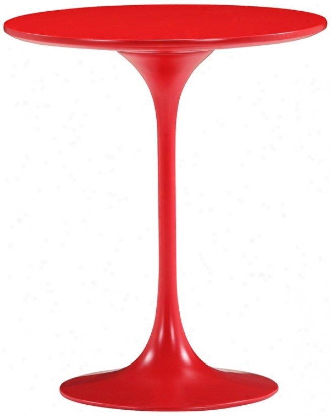 Zuo Wilco Glossy Red Side Table (v9141)