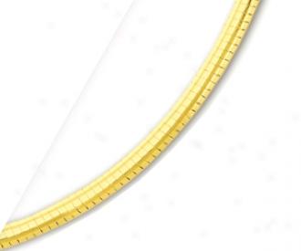 10k Yellow 4 Mm Omega Bracelet - 7 Inch