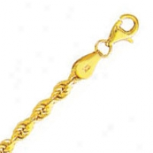 10k Yellow Gold 18 Inch X 3.5 Mm Rope Chain Necklace