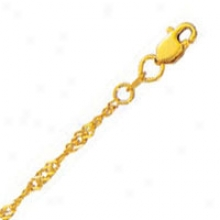 10k Yellow Gold 24 Inch X 2.1 Mm Singapore Chain Necklace