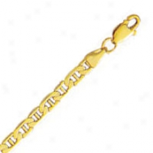10k Yellow Gold 24 Inch X 3.2 Mm Marlner Link Necklace