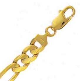 10k Yellow Gold 8.5 Inch X 8.3 Mm Figaro Fetter Bracelet