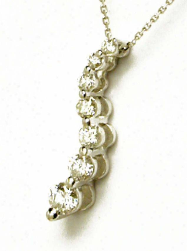 1/4 Ctw Journey Of Love Round Diamond Pendant (si2, H-i)
