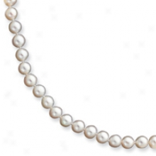 14k 6-6.5mm White Fw Potato Cult. Drop Necklace - 20 Inch