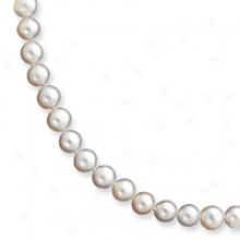 14k 6.5-7mm White Fw Potato Cult. Pearl Necklace - 24 Inch